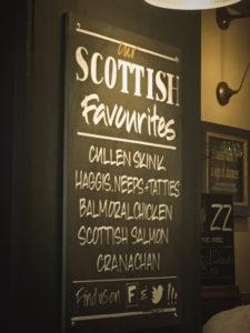 scozia - menu