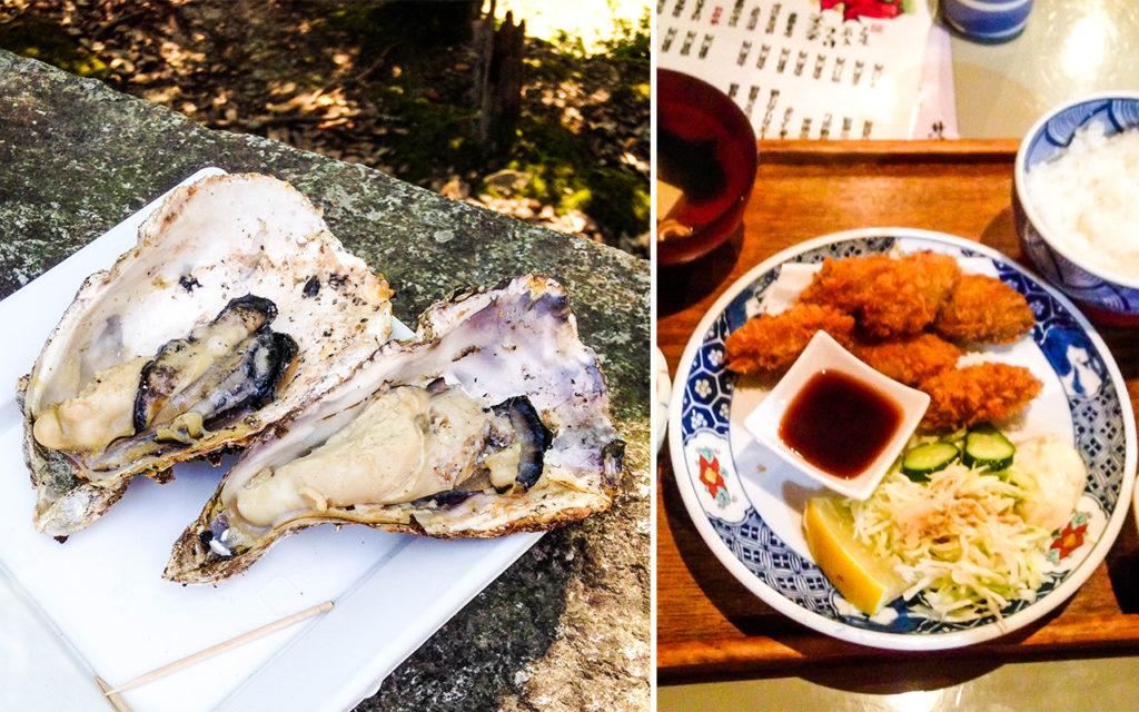 giappone - miyajima - ostriche